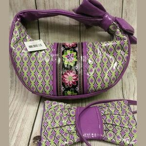 Vera Bradley Frill Purple Punch set RARE retired